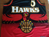 【全新含吊】Adidas NBA 老鷹隊 Hawks 復古大老鷹 Josh Smith jersey M號 球衣
