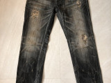 金斯大 Jeansda immolation Phoenix Immolation Antique Jeans W34